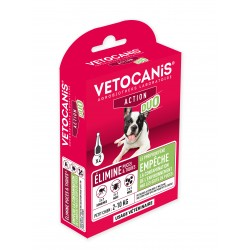 VETOCANIS ACTION DUO Anti-Flea Anti-Tick Action Pipette for Small Dogs and for Habitat  - 2