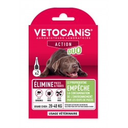 VETOCANIS ACTION DUO Anti-Flea Anti-Tick Action Pipette for Large Dogs and for Habitat  - 1