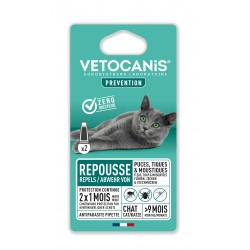 PREVENTIS Anti-Flea Anti-Tick Anti-Mosquito Repellent Pipettes for Cats X2  - 1