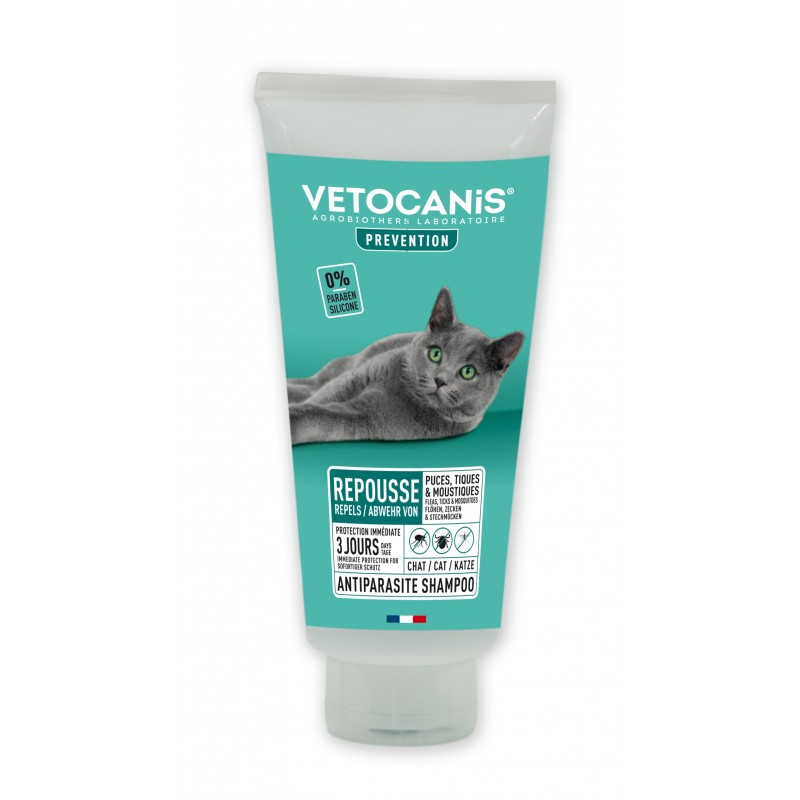 PREVENTIS Anti-Flea Anti-Tick Anti-Mosquito Repellent Shampoo for Cats  - 1