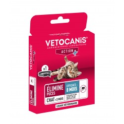 VETOCANIS ACTION PROTEC Anti-Flea and Anti-Tick Collar for Cats, Black  - 2