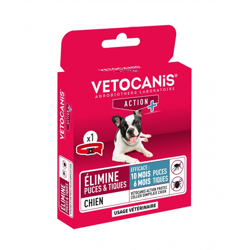 10-month VETOCANIS ACTION PROTEC Anti-Flea Anti-Tick Collar for Dogs  - 2