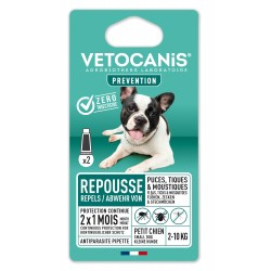 PREVENTIS Anti-Tick Flea Repellent Spot on for small dog x2  - 1
