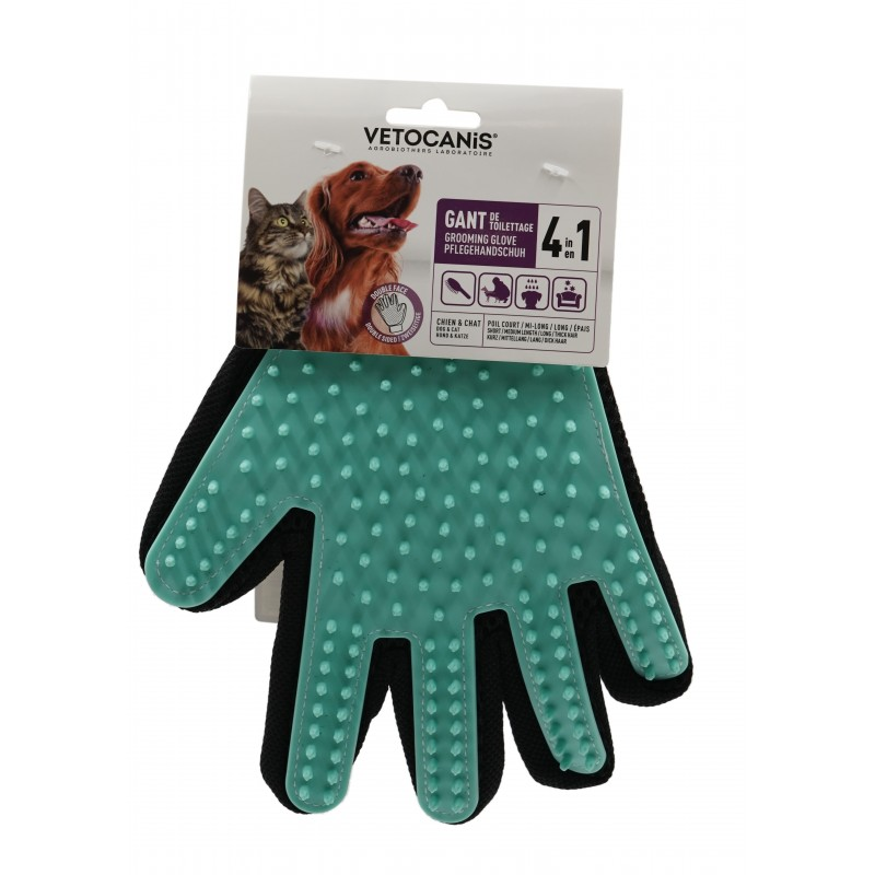 4 in 1 Silicone Grooming Glove for Dogs and Cats  - 1