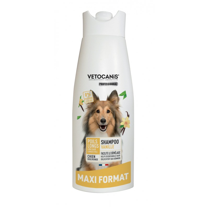 Shampoo for Long Hair for Dogs Vanilla Fragrance. 750 ml  - 1
