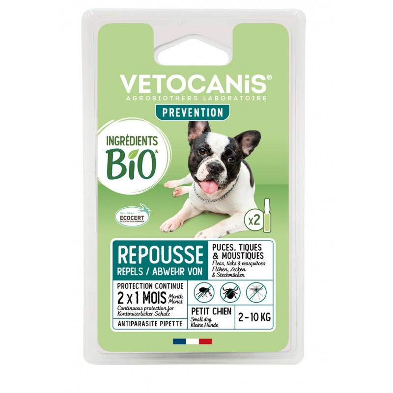PREVENTIS Organic Ingredients Anti-Parasite Spot-On Solution for Small Dogs X2  - 1