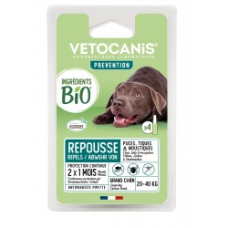 PREVENTIS Organic Ingredients Anti-Parasite Spot-On Solution for Large Dogs X4  - 1