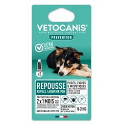 PREVENTIS Anti-Flea, Tick and Mosquito Repellent Pipette Medium-Sized Dog X2  - 1