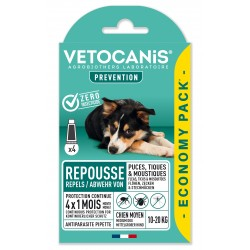 PREVENTIS Anti-Flea, Tick and Mosquito Repellent Pipette Medium-Sized Dog X4  - 1