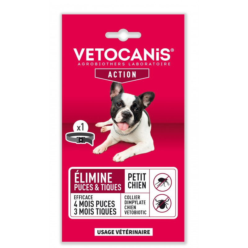 4-month Action VETOBIOTIC Anti-Flea and Anti-Tick Collar for Dogs  - 1